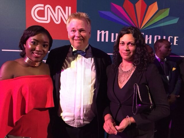 At the CNN Awards with Former Mentee Ancillar Mangena young African Journalist Of The Year