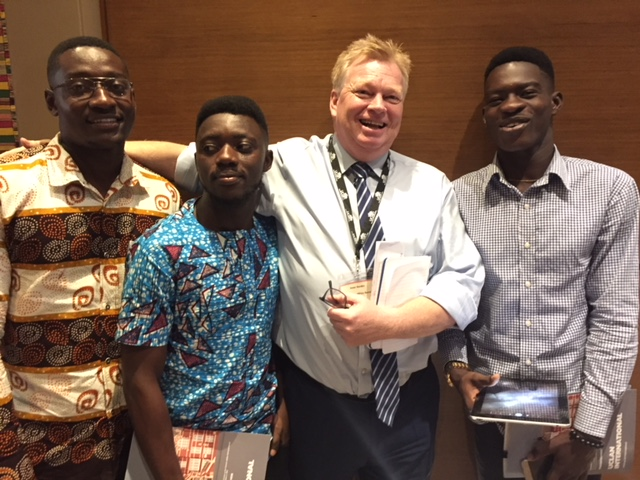 Peter Burdin with Journalism students from the University of Ghana.