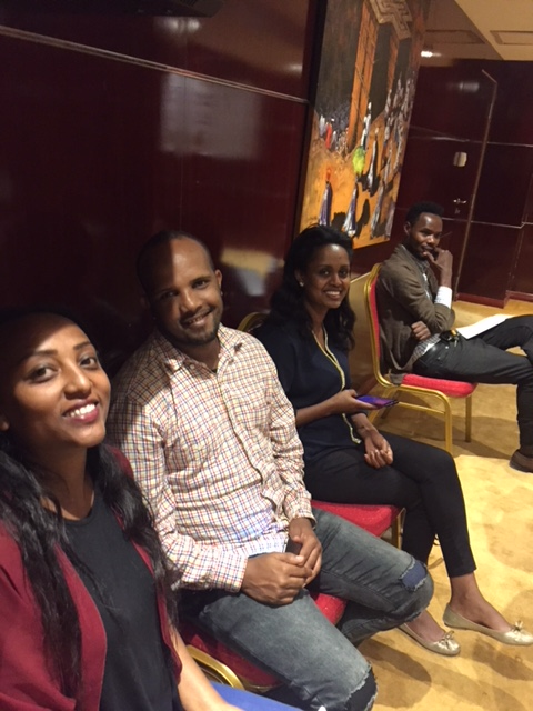 Journalists at Peter Burdin's Addis Ababa media workshop.