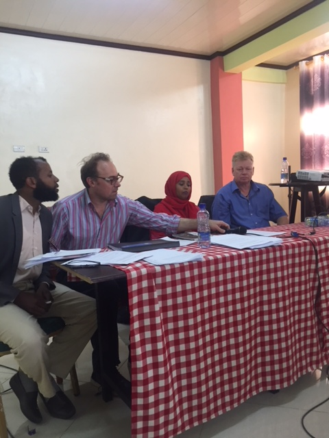 Phil Hayes and Peter Burdin host News Conference with Ethiopia TV team.