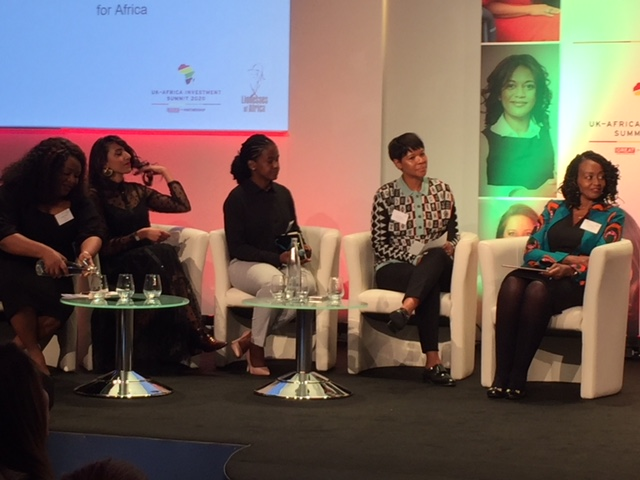 Some of Africa's most successful female entrepreneurs at then UK-Africa Investment Summit in London.